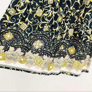 Vintage Skirts - VINTAGE Floral Prairie Boho Midi Skirt S Black